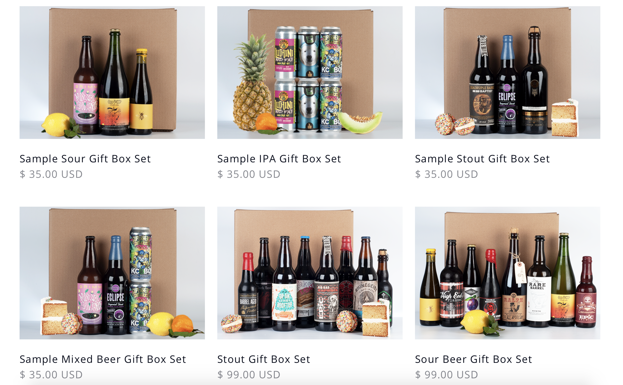 Various Tavour Beer Gift Boxes