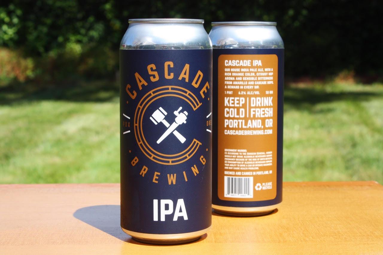 image of Cascade IPA courtesy of Cascade Brewing