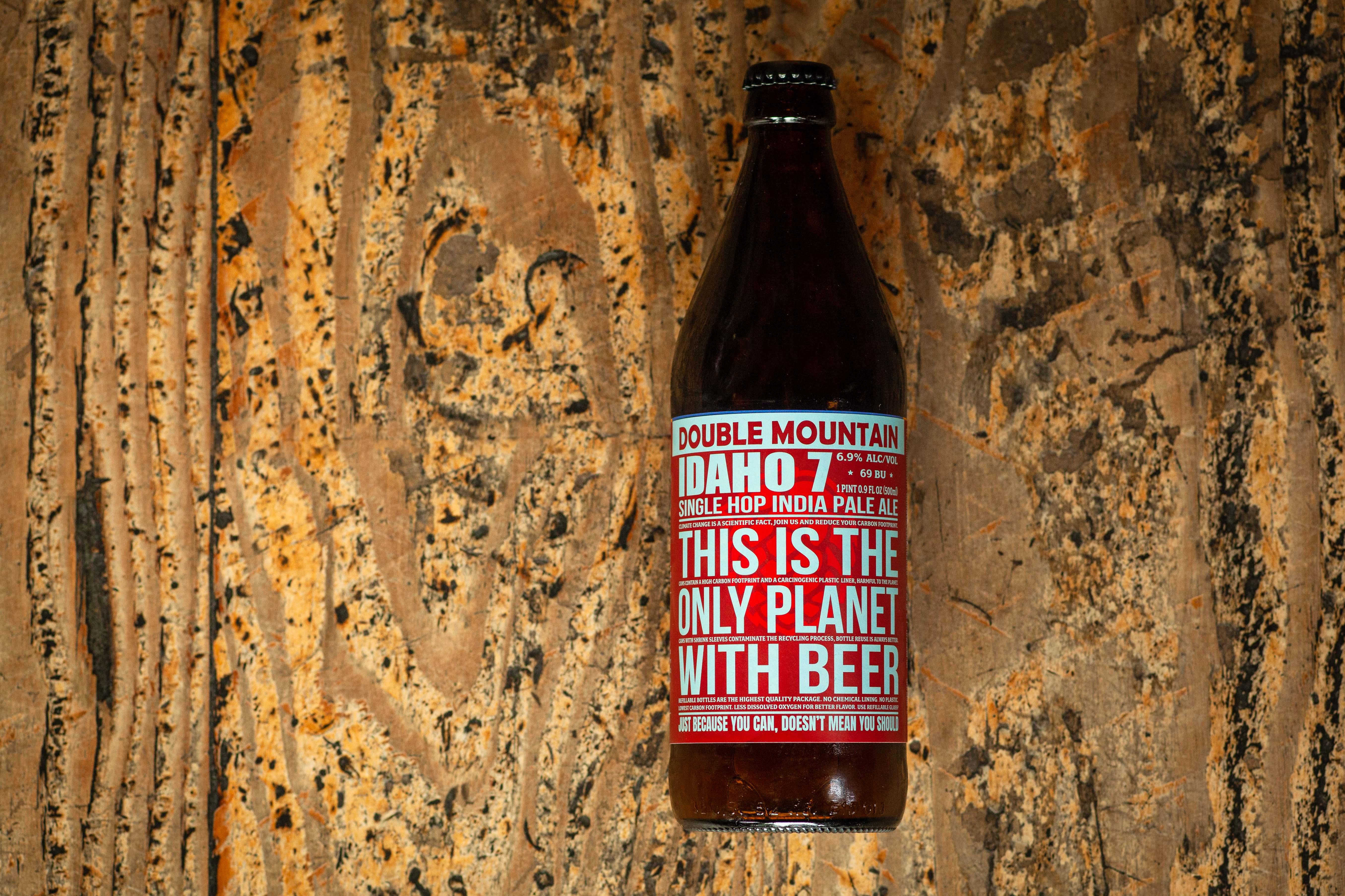 image of Idaho 7 IPA courtesy of Double Mountain Brewery