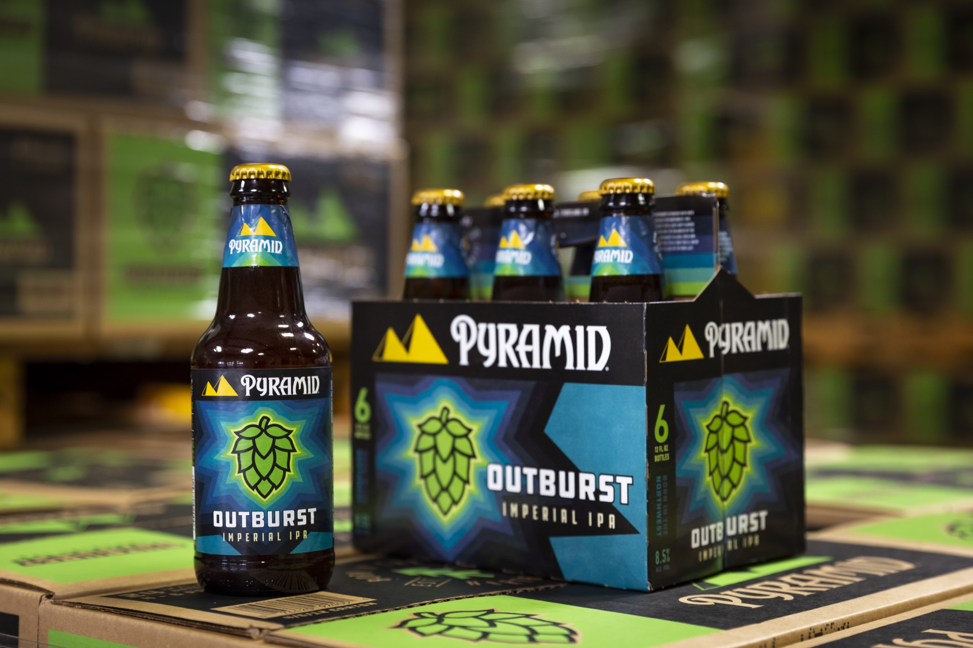 image of Outburst Imperial IPA courtesy of Pyramid Brewing