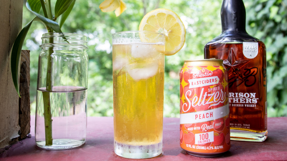 image of Peach Bourbon Lemonade Cocktail courtesy of Austin Eastciders