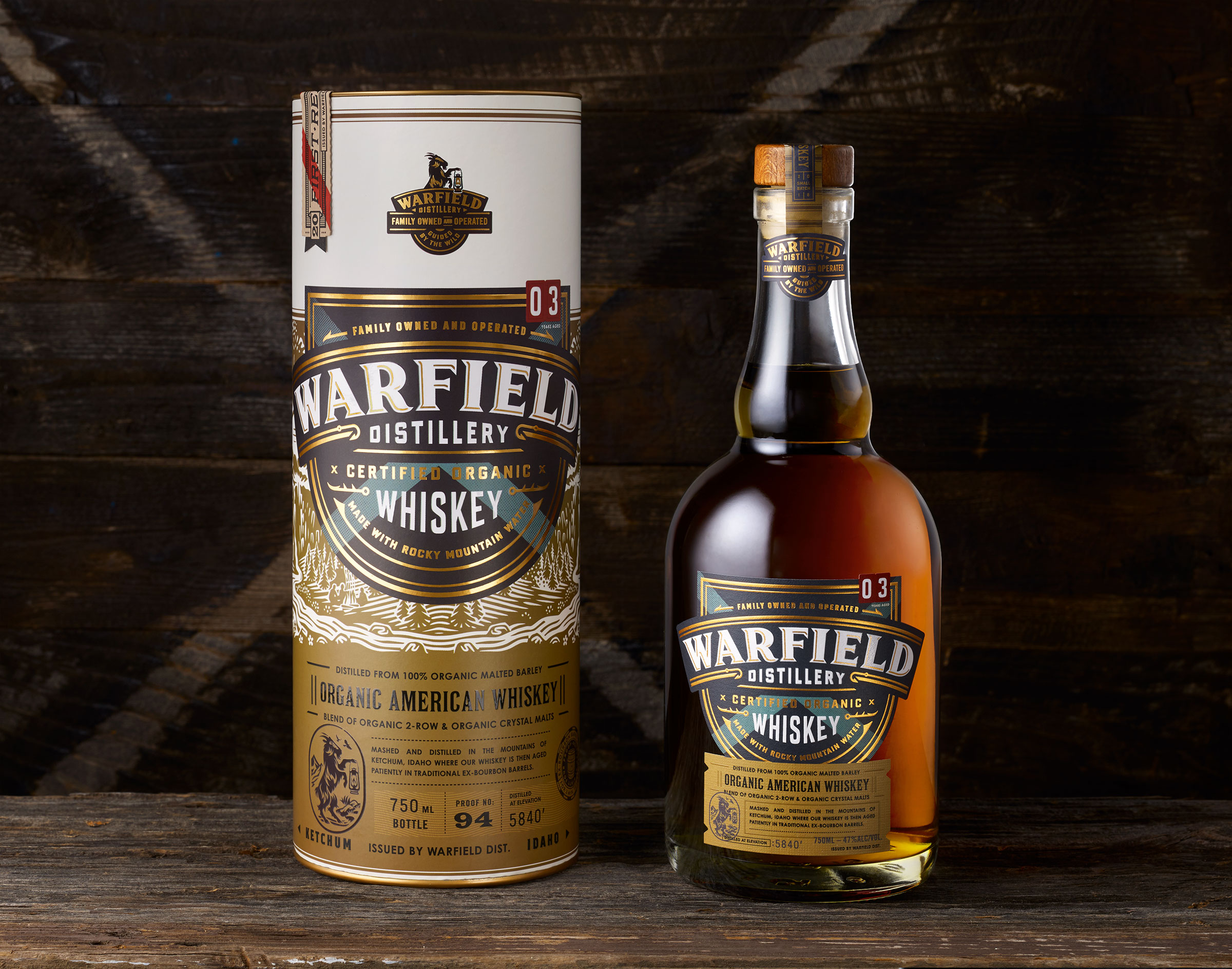 image of Warfield Whiskey courtesy of Warfield Distillery & Brewery