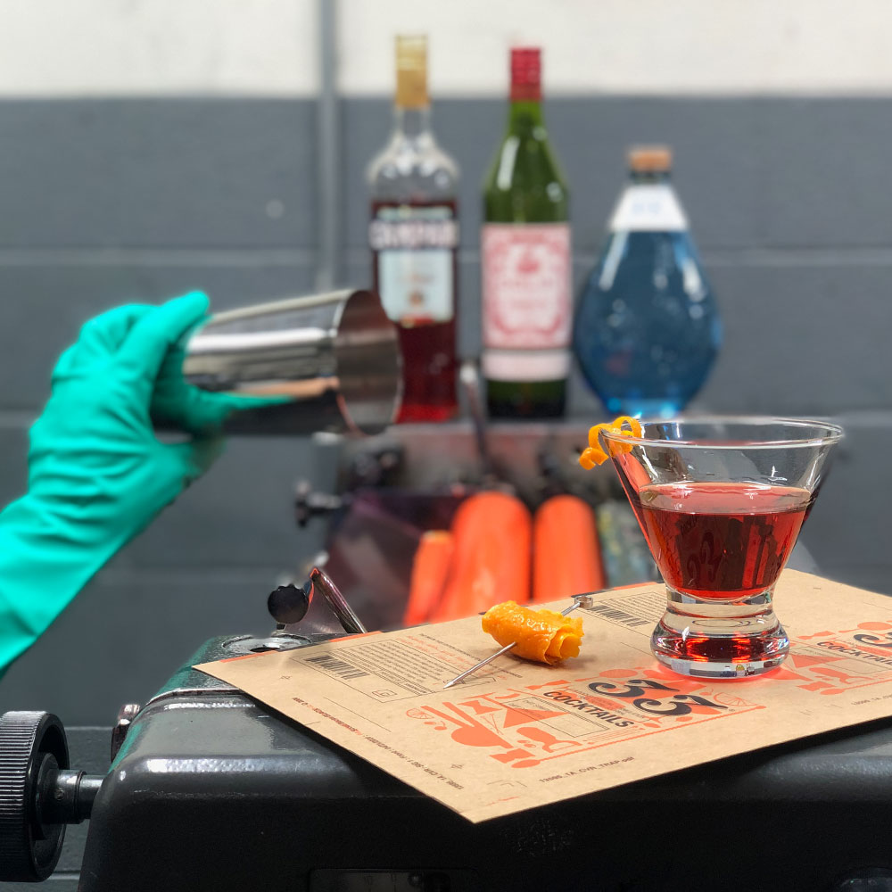 image of the making of 33 Cocktails courtesy of 33 Books