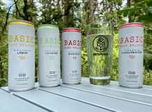 Basic Hard Seltzer is available in four flavors - Lemon, Cucumber, Cranberry, and Pamplemousse.