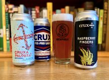 Crux Fermentation Project releases Rapberry Fingers, Crux Pre-Pro Lager, and Cruxapalooza Birthday Lager in 16oz cans.
