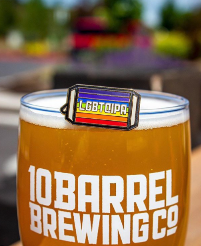 LGBTQIPA is back on tap at all 10 Barrel Pubs and this year's beer will see all proceeds benefiting Black & Pink. (image courtesy of 10 Barrel Brewing)
