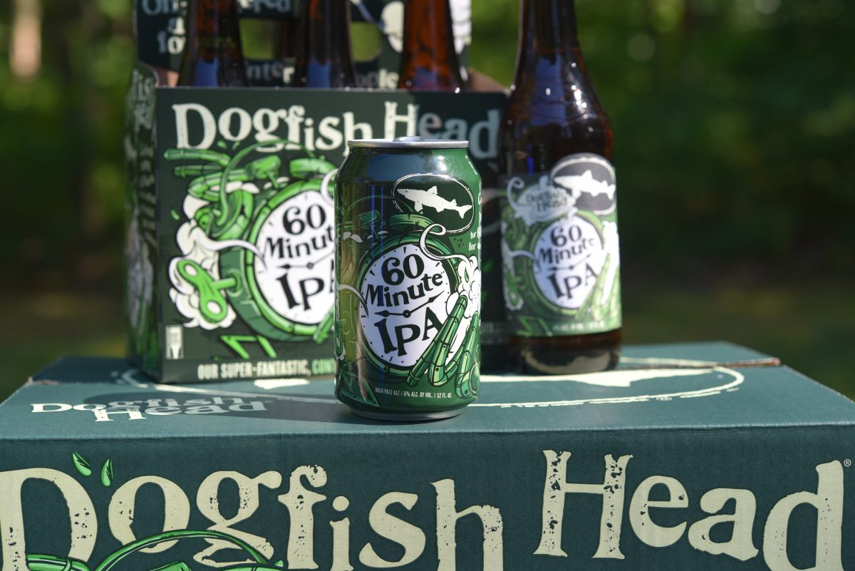 image of 60 Minute IPA courtesy of Dogfish Head Craft Brewery