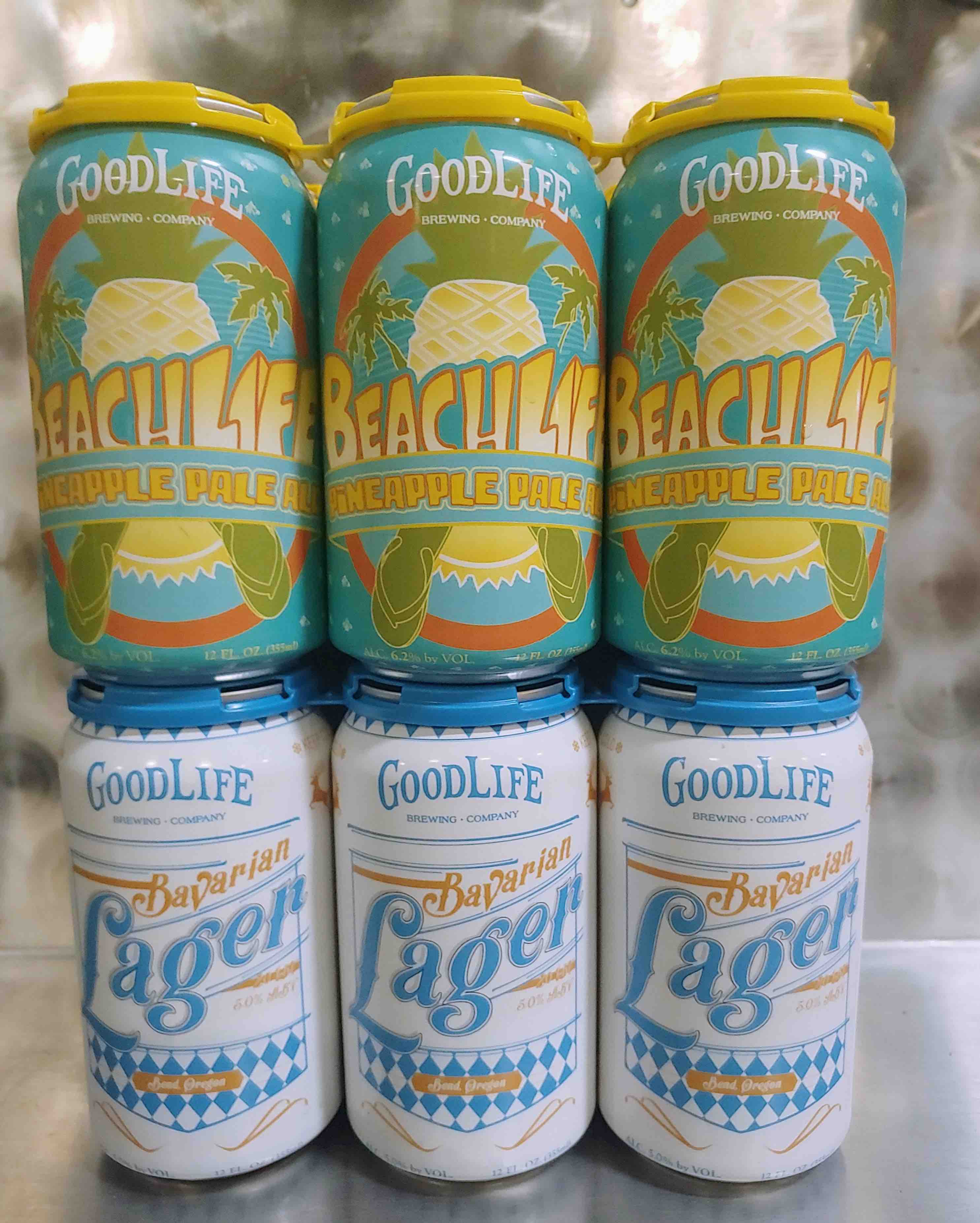 image of Beach Life Pineapple Pale Ale and Bavarian Lager courtesy of Good Life Brewing