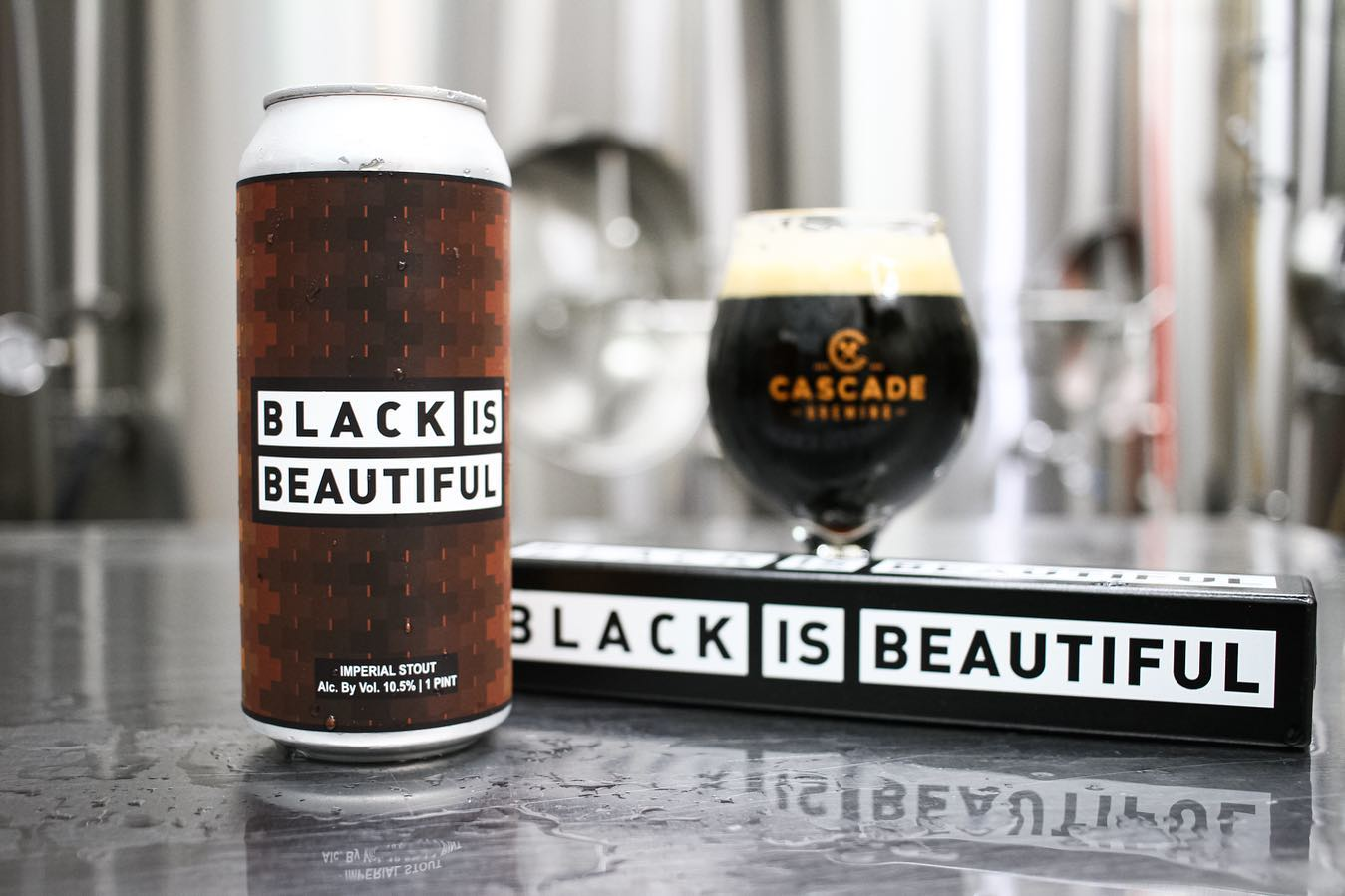 image of Black Is Beautiful Imperial Stout courtesy of Cascade Brewing