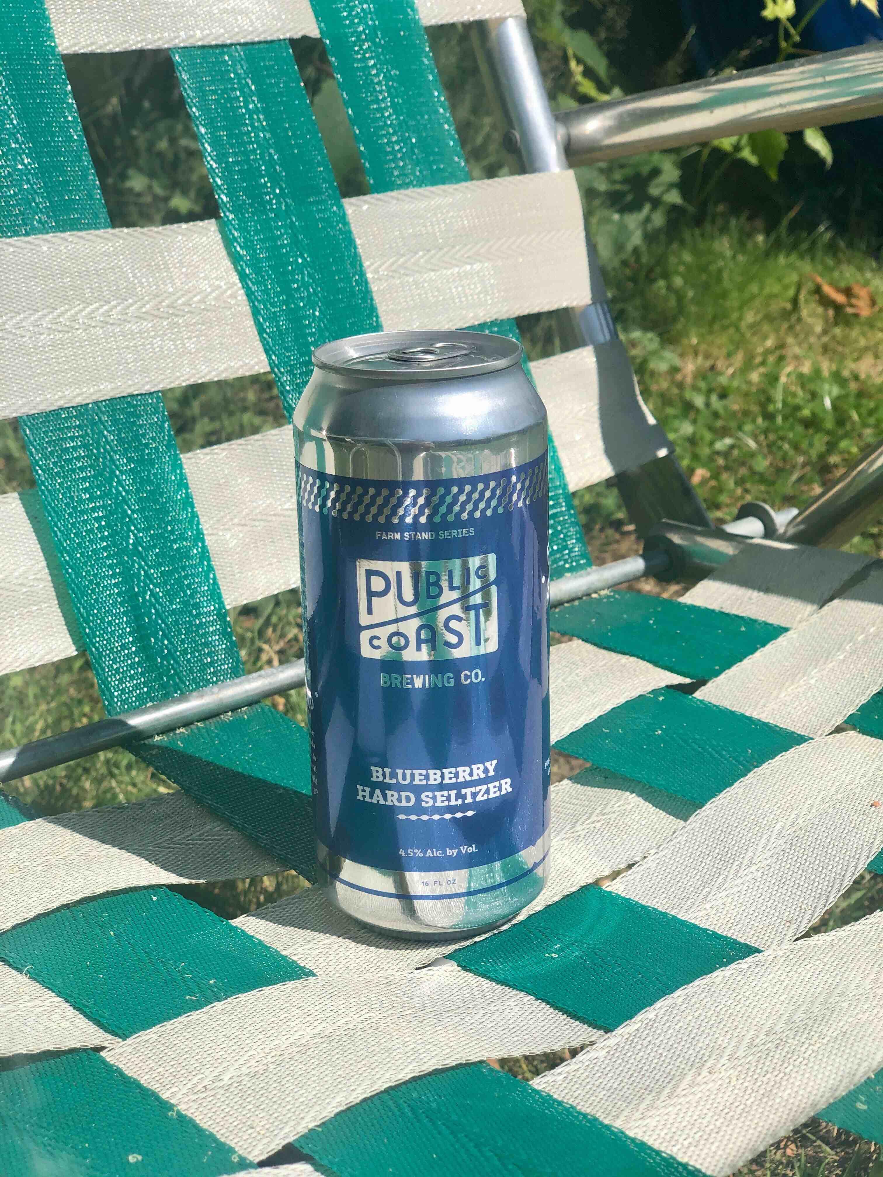 image of Blueberry Hard Seltzer courtesy of Public Coast Brewing