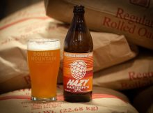 image of Hazy Clusterf#*k IPA courtesy of Double Mountain Brewery