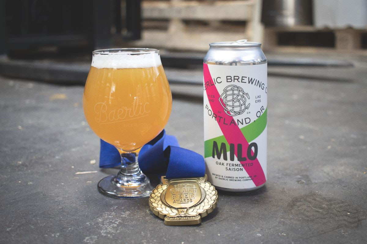 image of Milo Oak-Fermented Saison courtesy of Baerlic Brewing