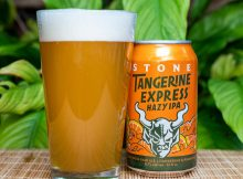 image of Stone Tangerine Express Hazy IPA courtesy of Stone Brewing