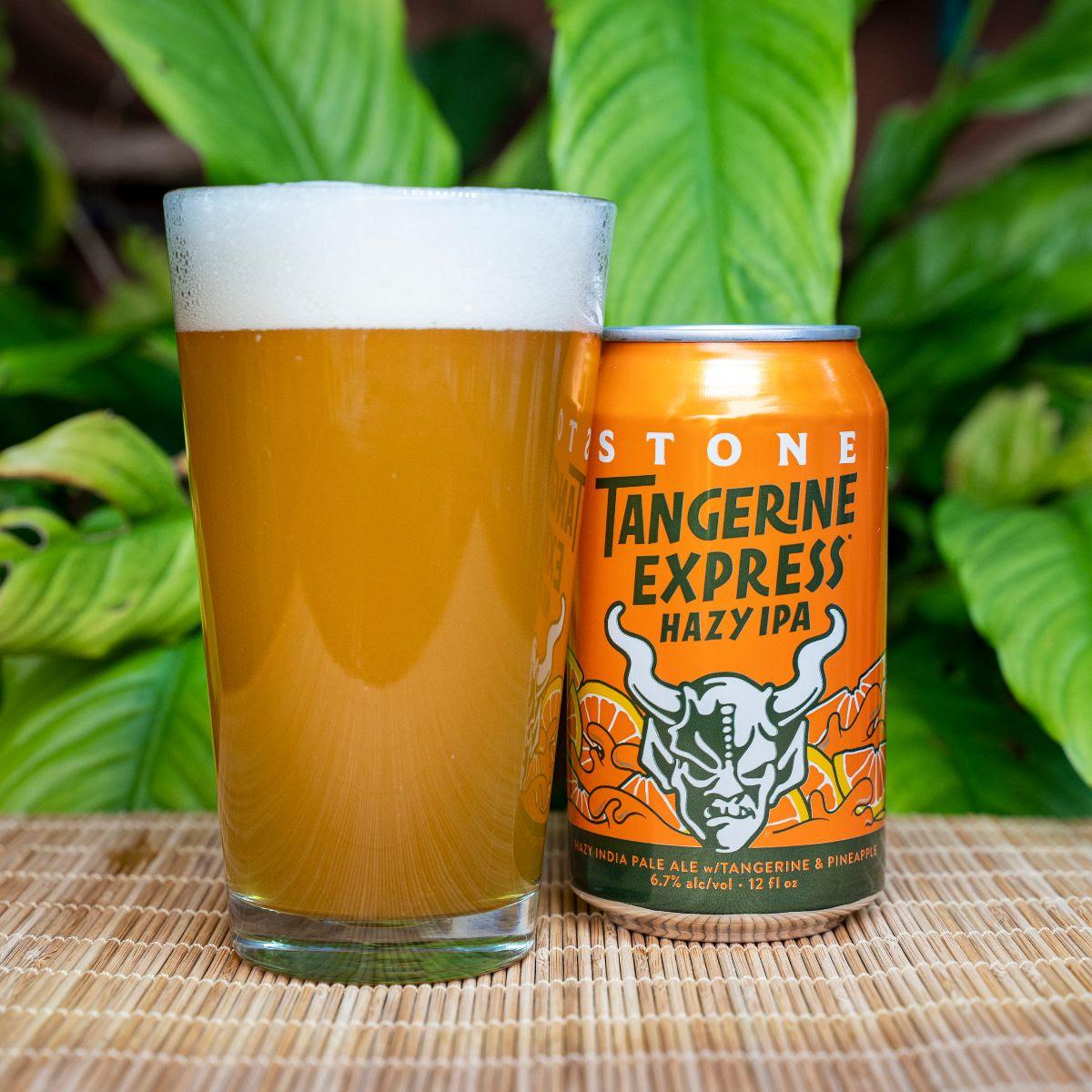 image of Stone Tangerine Express Hazy IPA courtesy of Stone Brewing