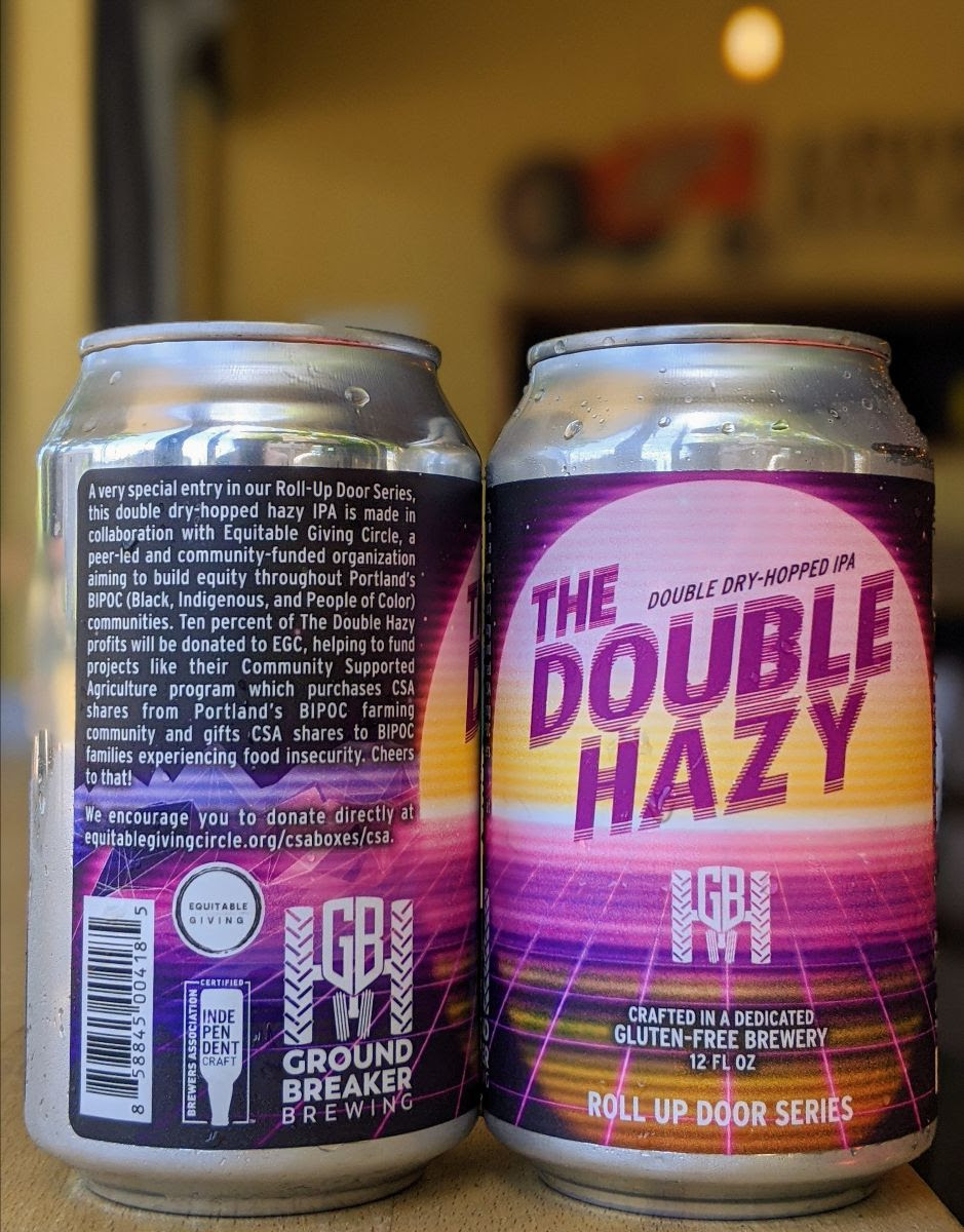 image of The Double Hazy - Double Dry-Hopped IPA courtesy of Ground Breaker Brewing