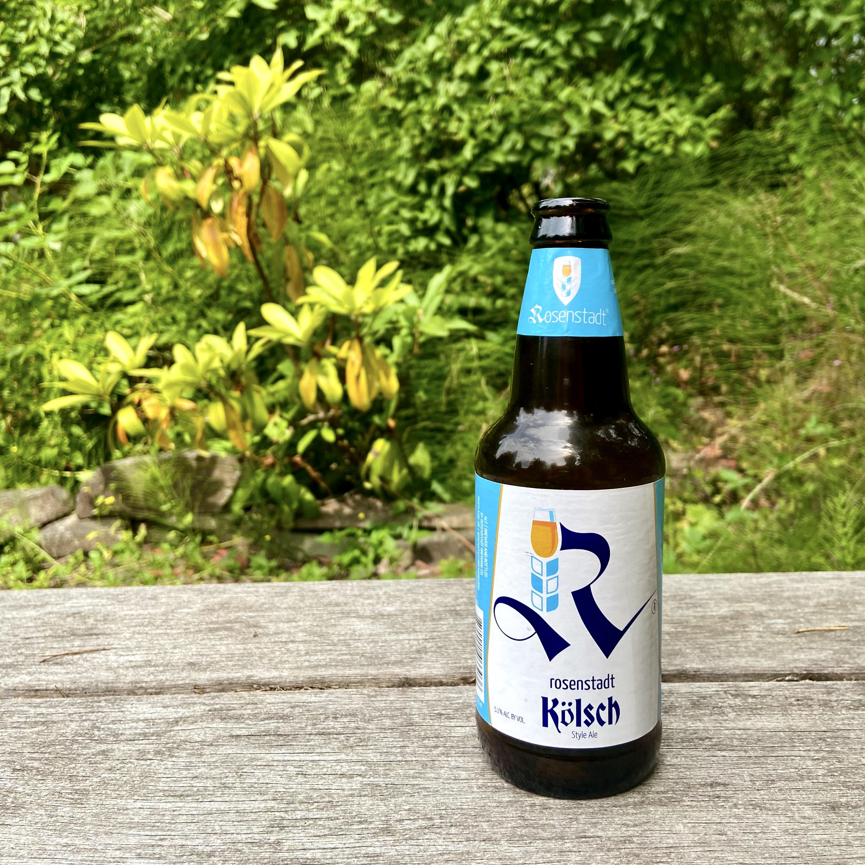 A new 12oz bottle Rosenstadt Brewery Kolsch.