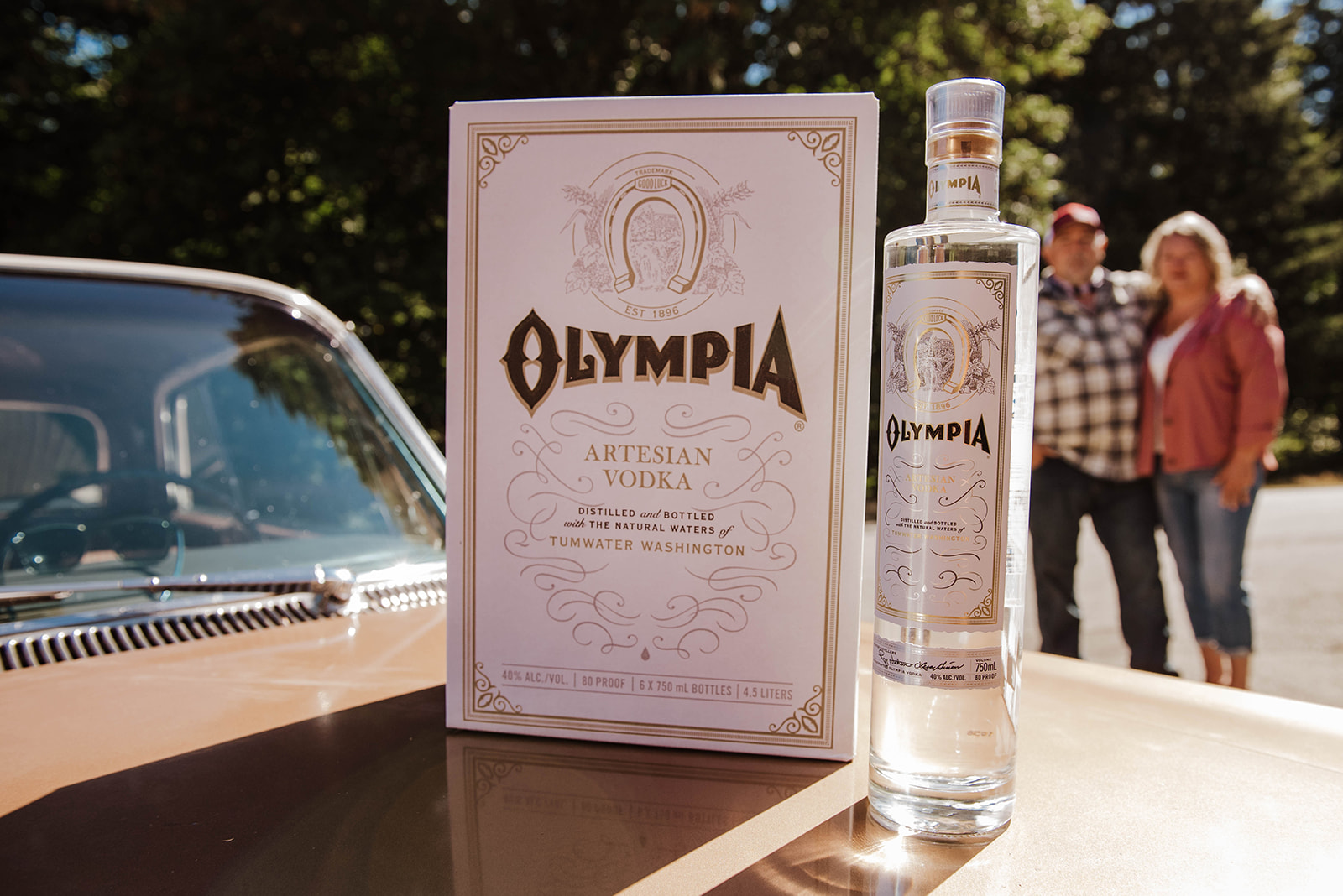 Olympia Artesian Vodka distilled in Tumwater, WA. (image courtesy of Sarah Russell)