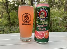 The new Paulaner Grapefruit Radler that is now available in the United States.