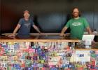 Van Havig and Ben Love at the new Gigantic Robot Room. (image courtesy of Gigantic Brewing)