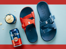 image of Chaco x Fat Tire Chillos Sandal courtesy of New Belgium Brewing