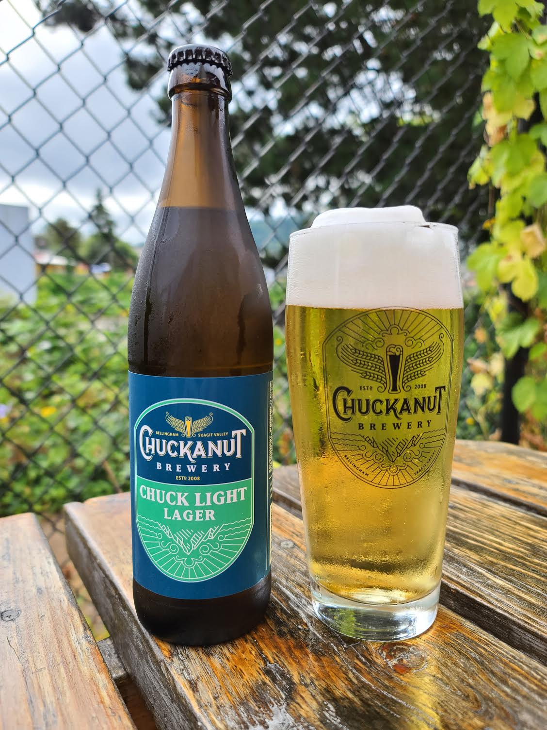 image of Chuck Light Lager courtesy of Chuckanut Brewery