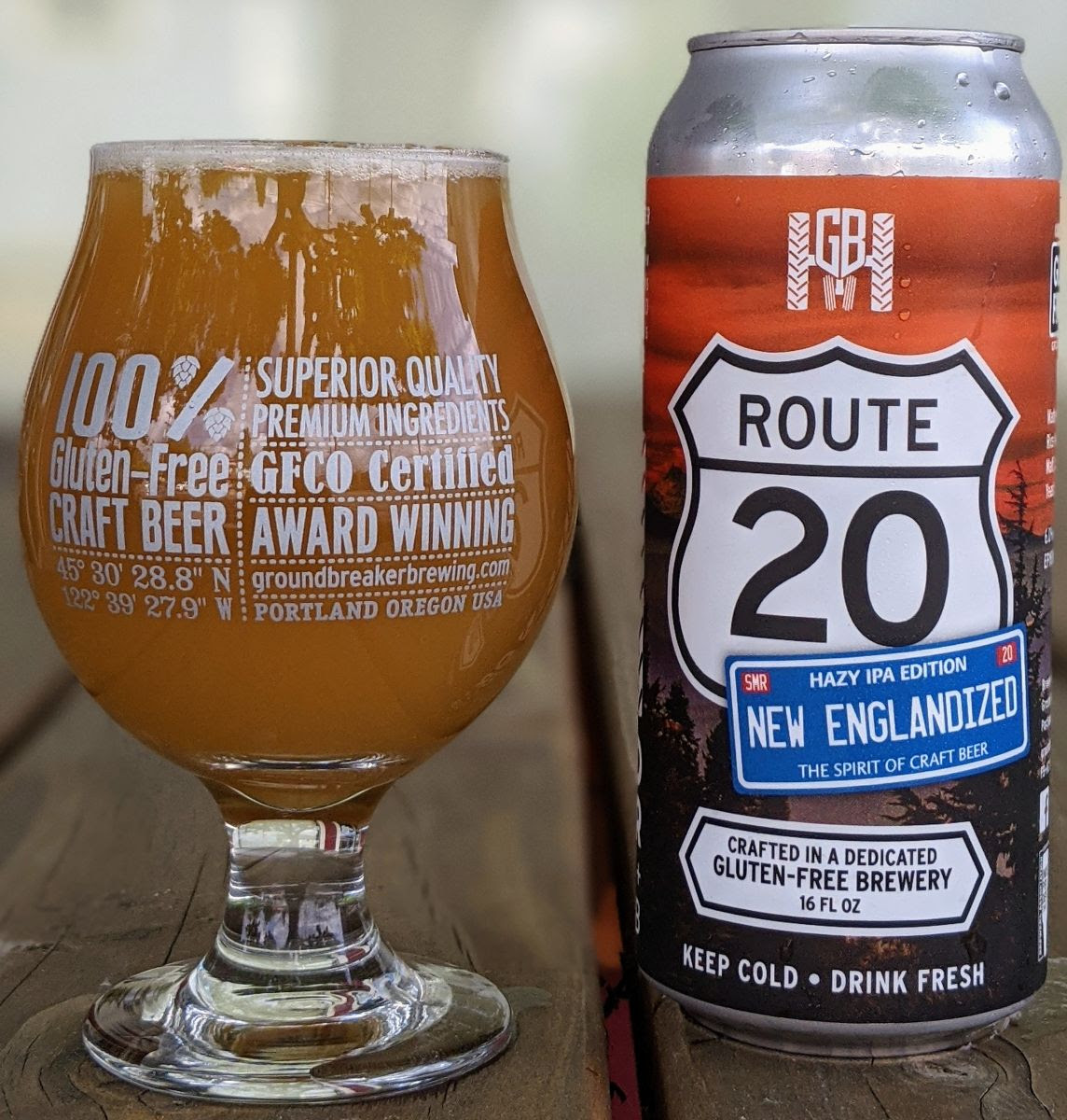 image of Ground Breaker Route 20 IPA New Englandized Edition courtesy of Ground Breaker Brewing