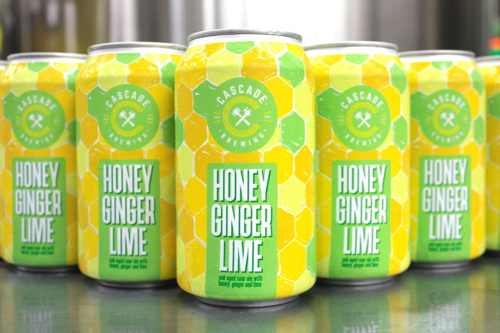 image of Honey Ginger Lime courtesy of Cascade Brewing