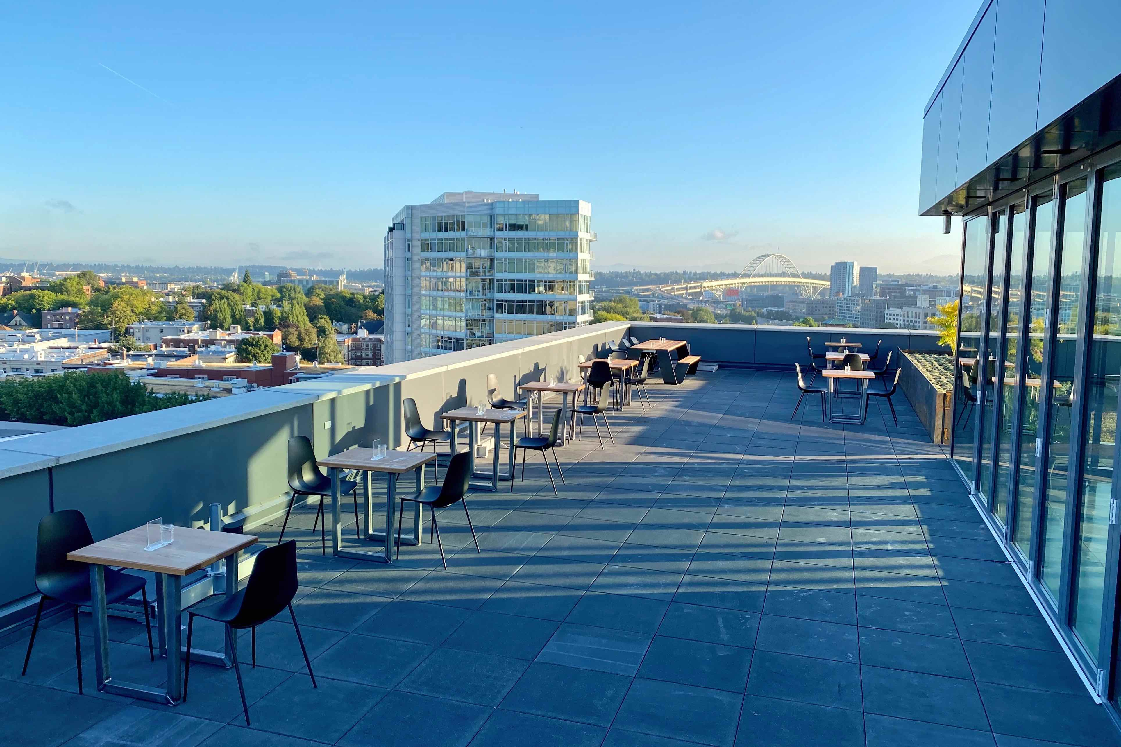 image of the Canvas Rooftop Patio courtesy of Migration Brewing