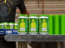 A 6-pack of 12oz Head Stash Fresh Hop IPA. (image courtesy of Everybody's Brewing)