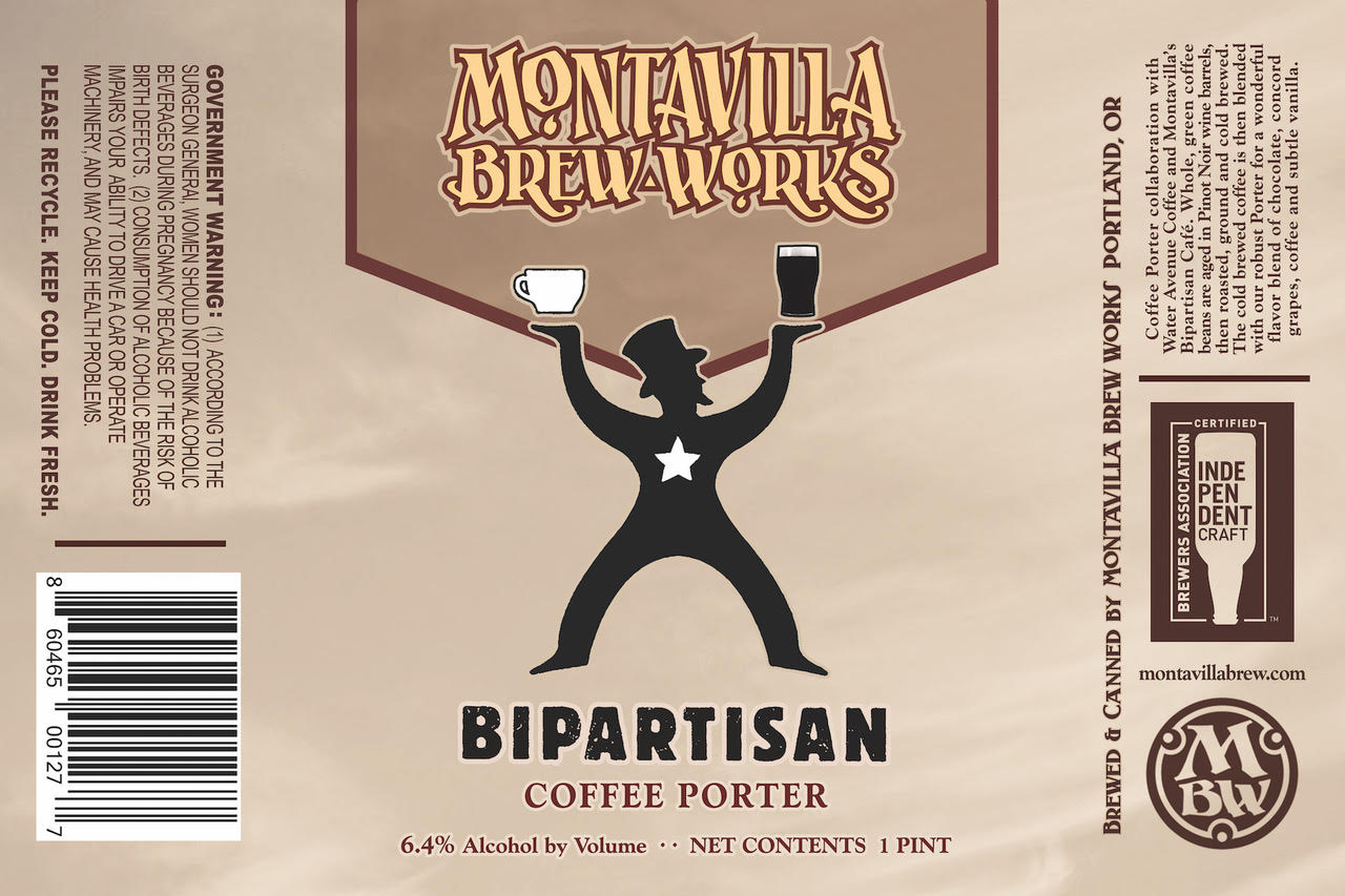 Montavilla Beer Works Bipartisan Porter Can Label