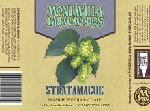 Montavilla Beer Works Stratamacue Fresh Hop IPA Can Label