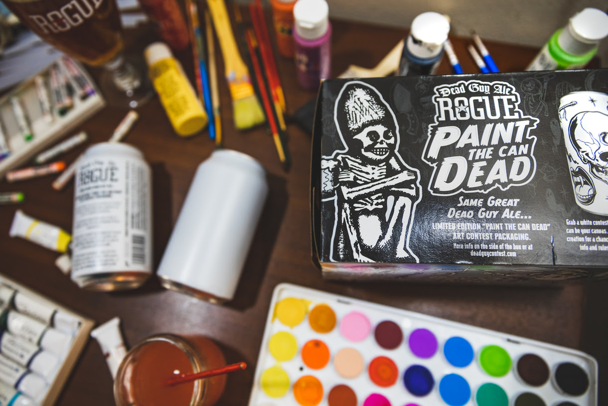 Rogue Paint the Can Dead, a way to express your artistic side. (image courtesy of Rogue Ales)