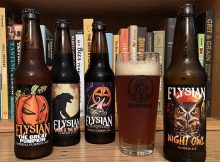 The 2020 Pumpkin Ale lineup from Elysian Brewing - The Great Pumpkin, Dark O' The Moon, Punkuccino, and Night Owl.