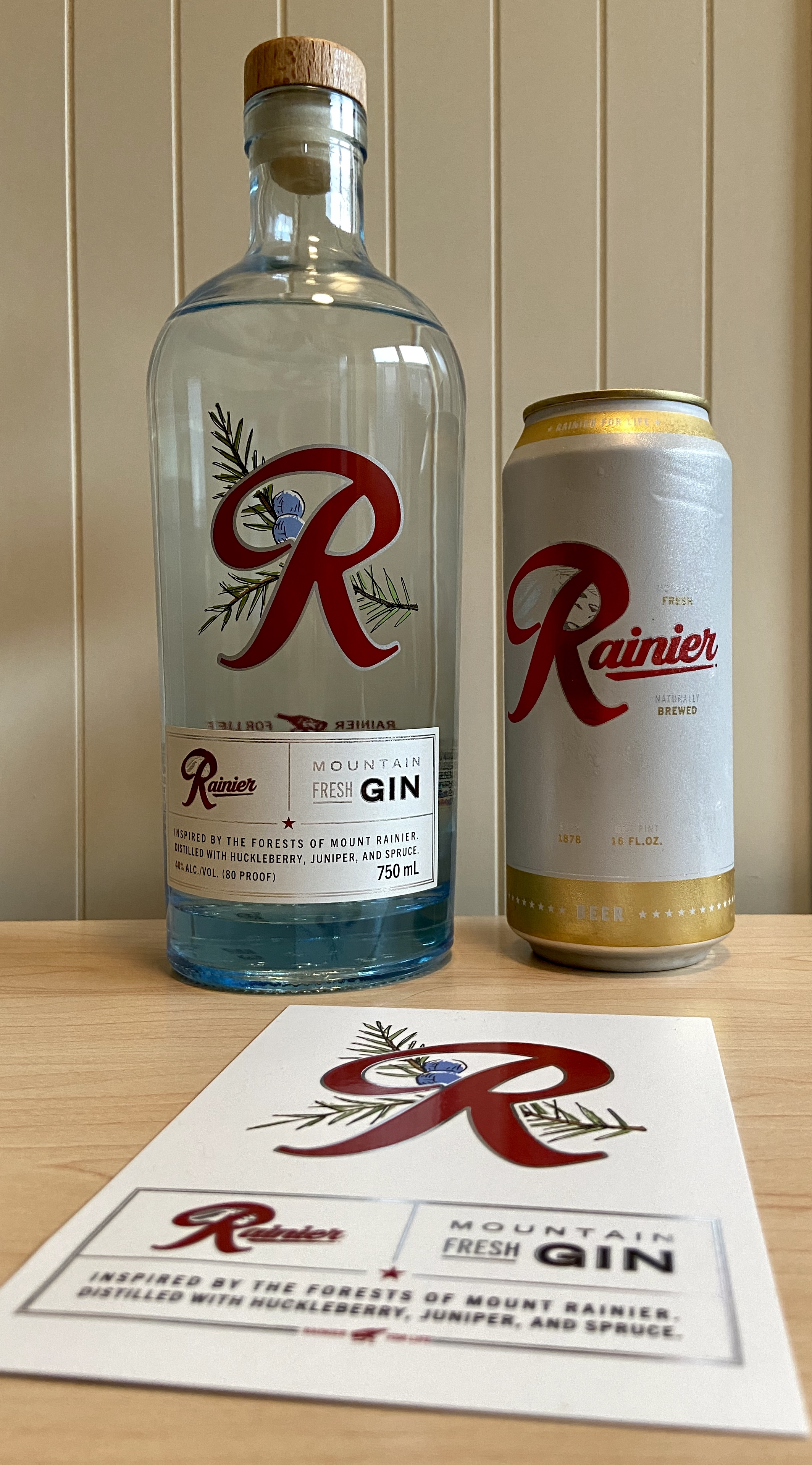 The iconic Rainier has expanded into spirits with the new Rainier Mountain Fresh Gin.