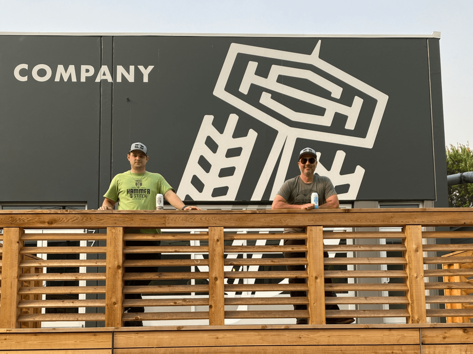 image of Cameron Murphy (left) and Ben Dobler courtesy of Hammer & Stitch Brewing Co.