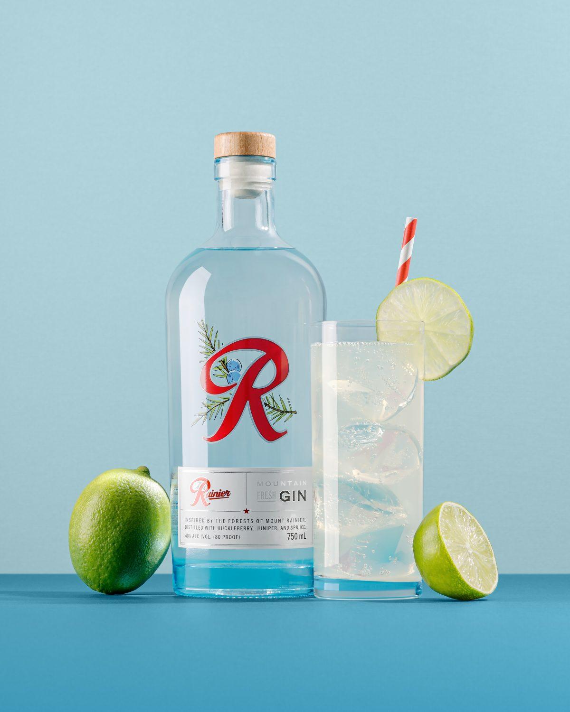 image of Rainier Mountain Fresh Gin Rickey courtesy of Rainier Beverage Company
