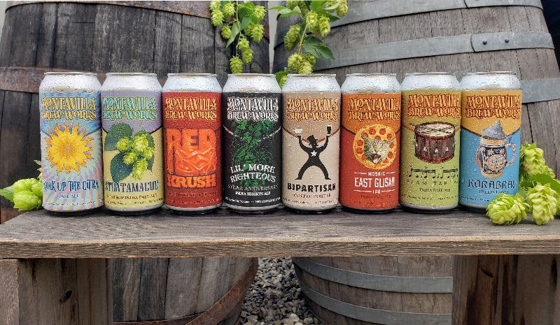 image of the lineup of cans courtesy of Montavilla Brew Works