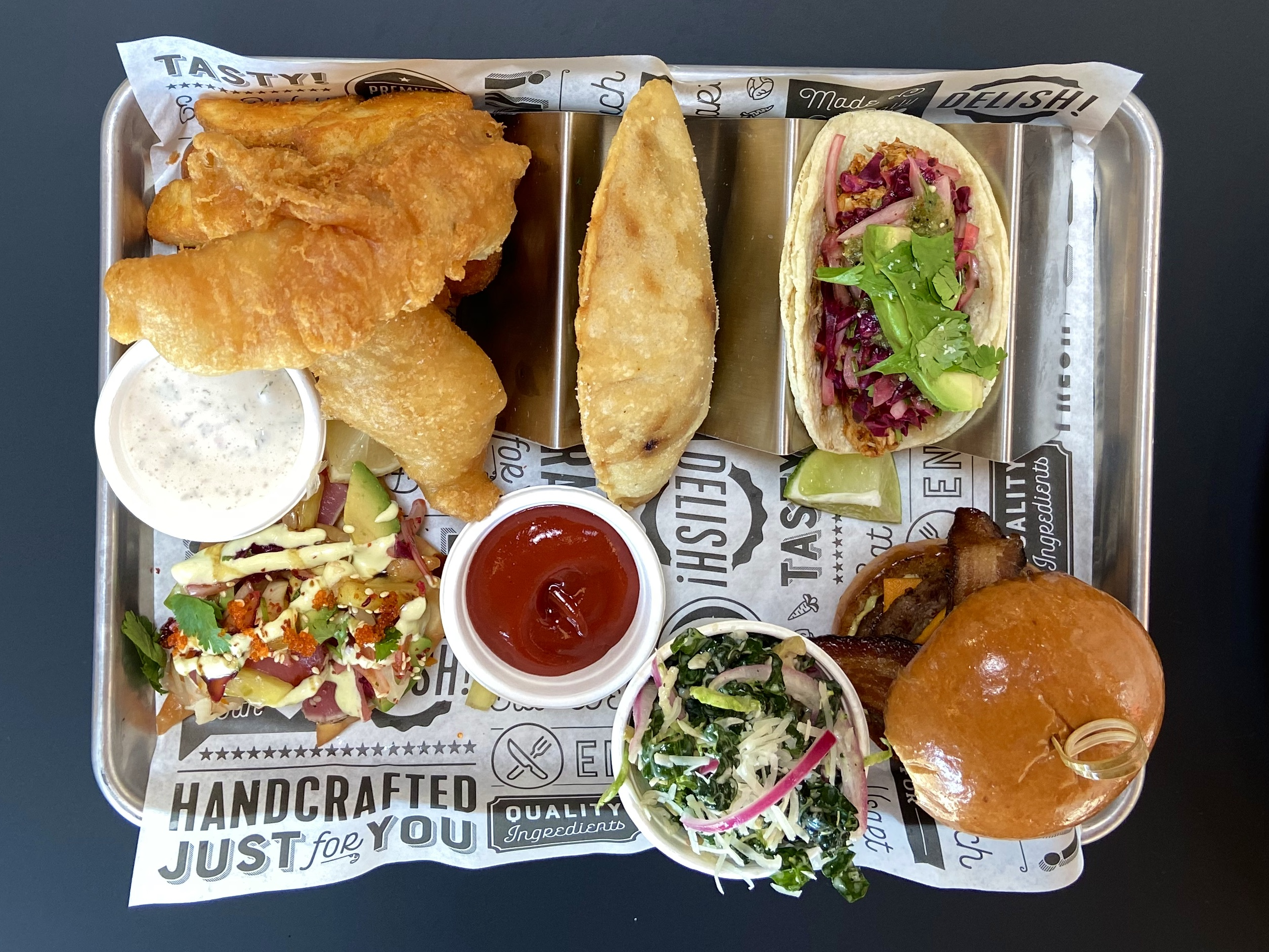 A look at many of the food offerings at Hammer & Stitch Brewing.