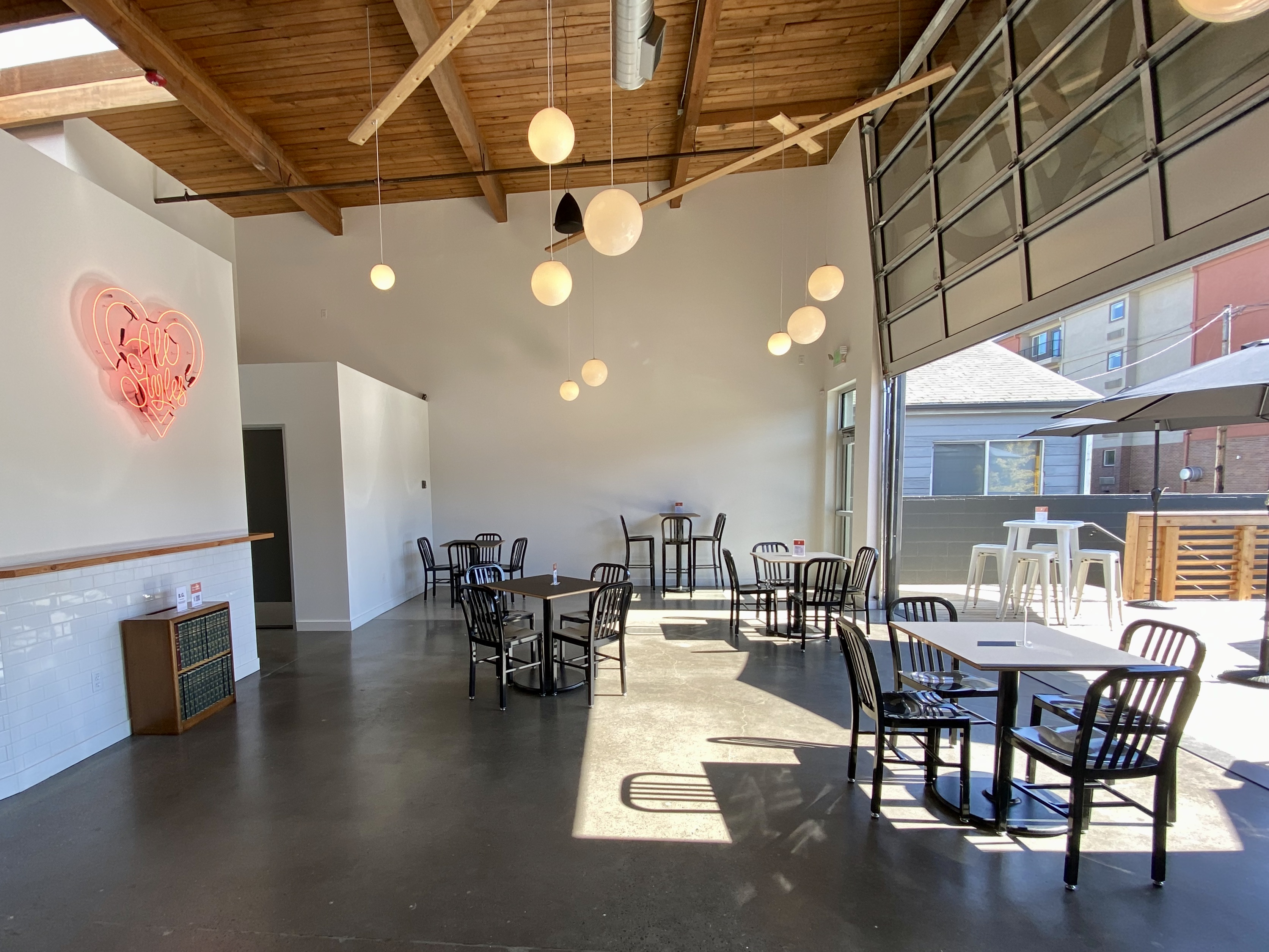Inside seating, all socially distanced with tall ceilings at Hammer & Stitch Brewing will make for a more inviting space during the pandemic.