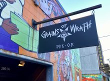 Looking north down North Williams at Grains of Wrath - PDX.