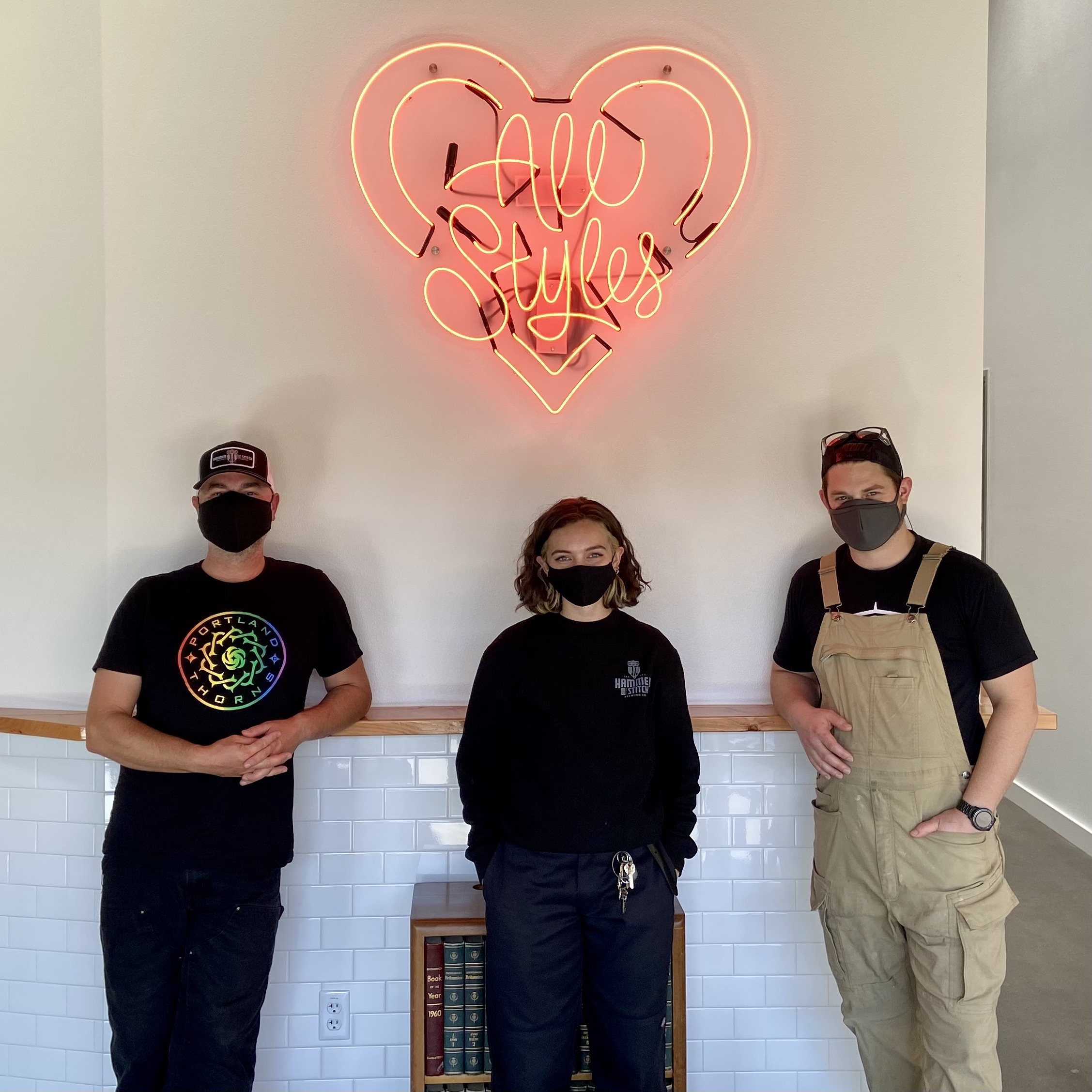 The crew at Hammer & Stitch Brewing - Ben Dobler, Madison Moody, and Cameron Murphy.