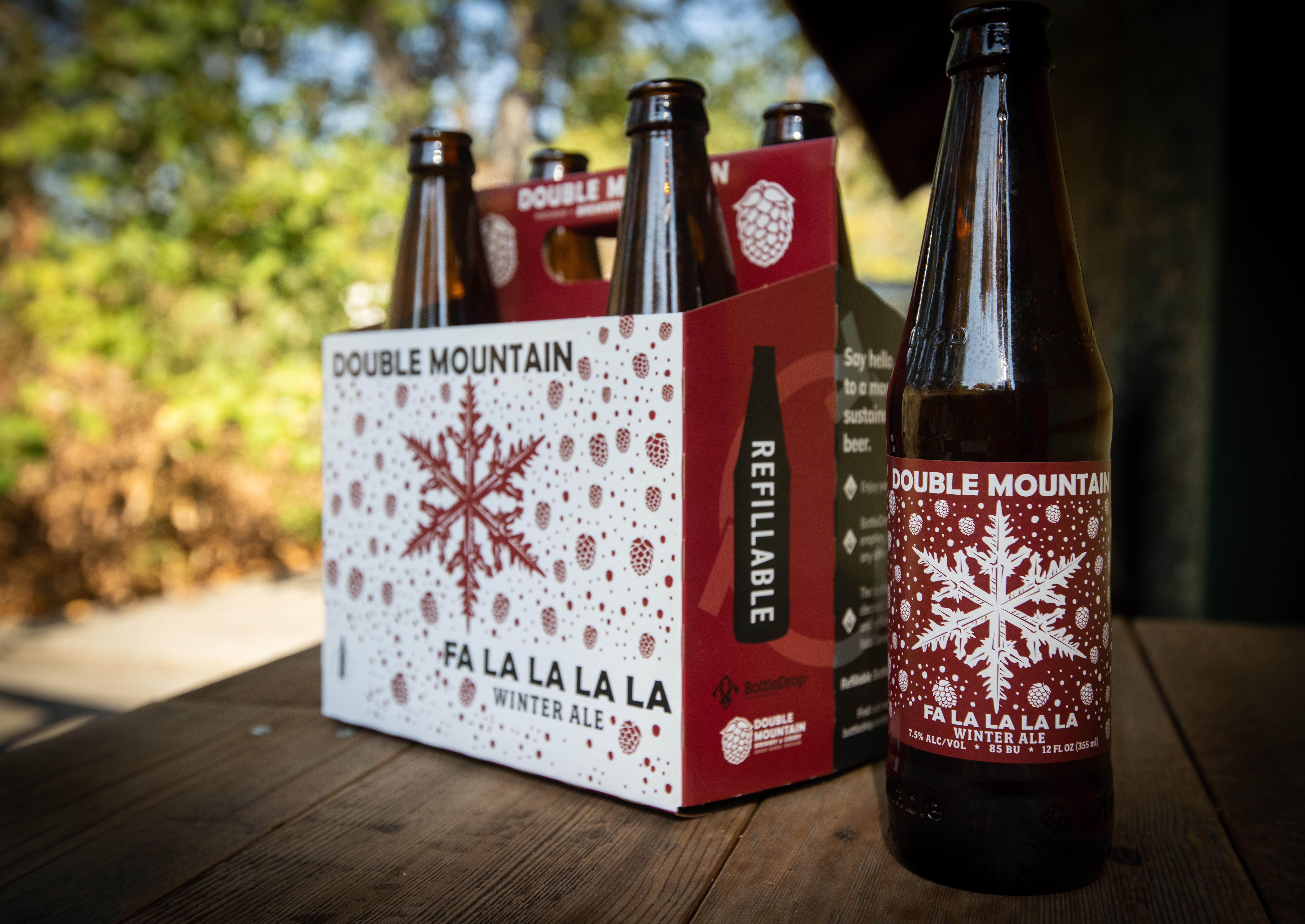 image of Fa La La La La in new 6-packs courtesy of Double Mountain Brewery