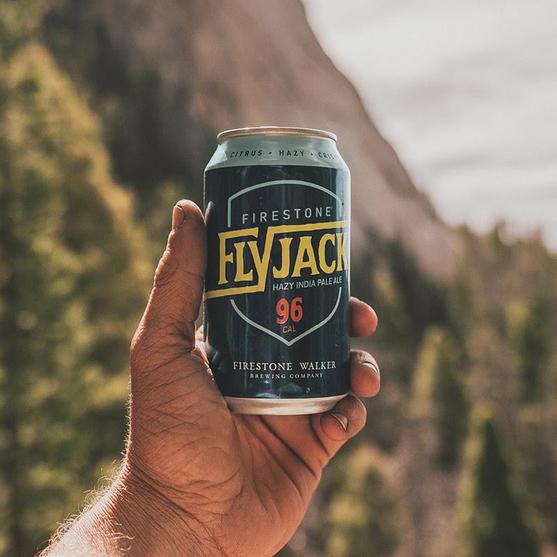 image of Flyjack Hazy IPA courtesy of Firestone Walker Brewing