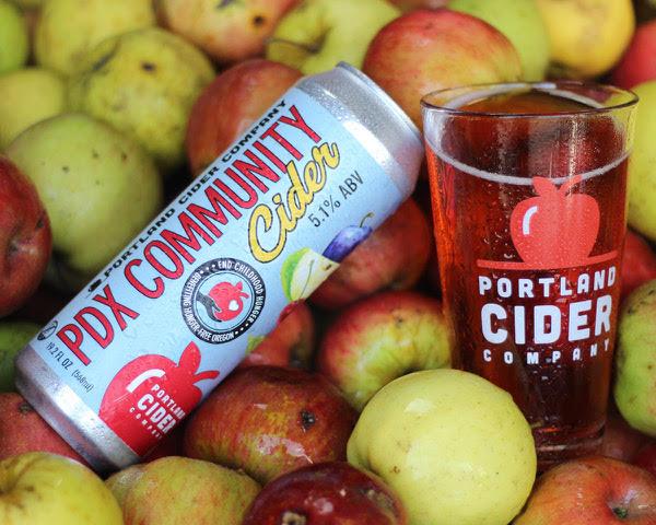 image of PDX Community Cider courtesy of Portland Cider Co.