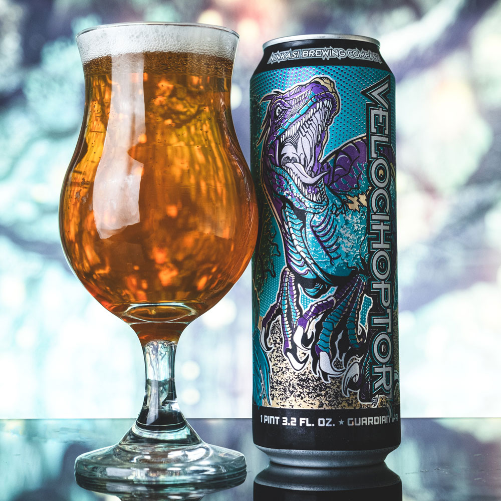 image of Velocihoptor courtesy of Ninkasi Brewing