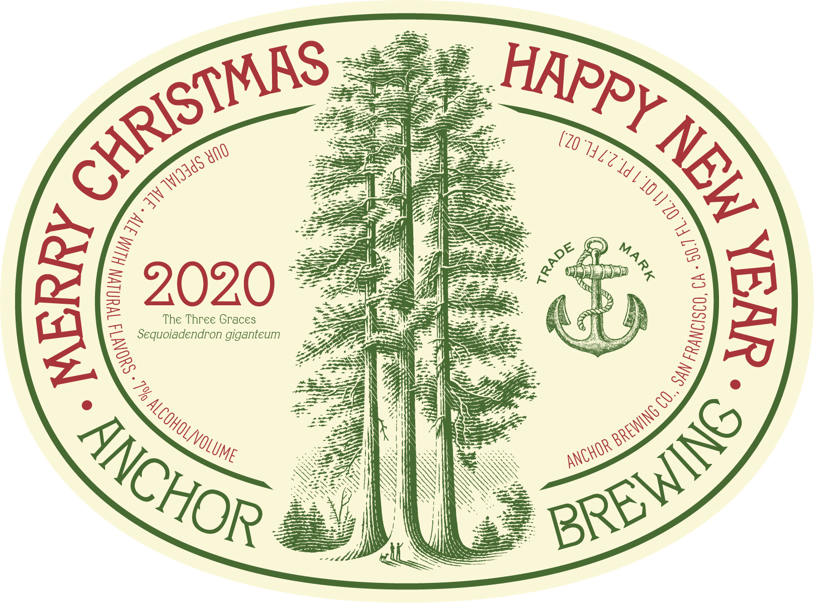 Anchor Brewing 2020 Christmas Ale Magnum Label