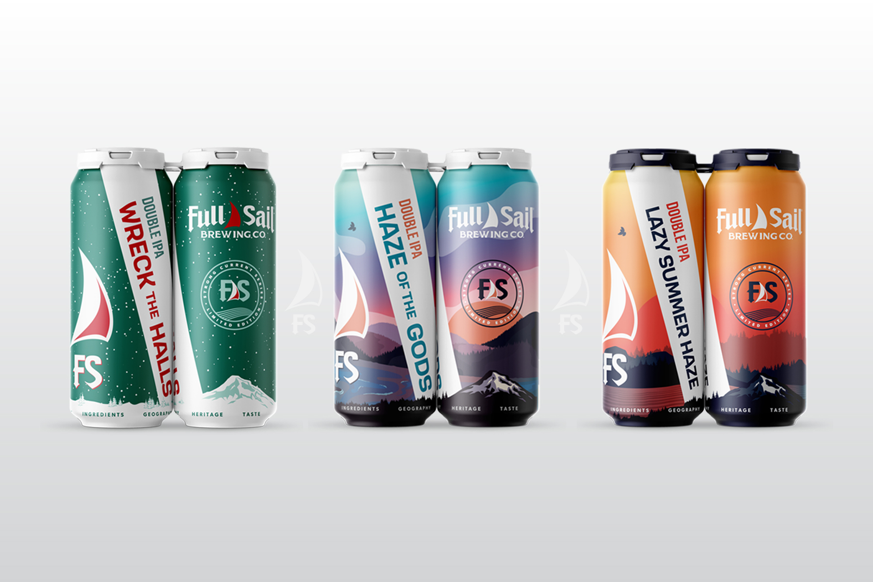 Full Sail Brewing Strong Current Series - Wreck The Halls, Haze of the Gods, and Lazy Summer Haze