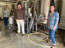 Jason McAdam, Chip Conlon, and Kristin White revive the old Burnside Brewing Sweet Heat at Coin Toss Brewing under the new name of Sweet Heat Repeat. (image courtesy of Coin Toss Brewing)