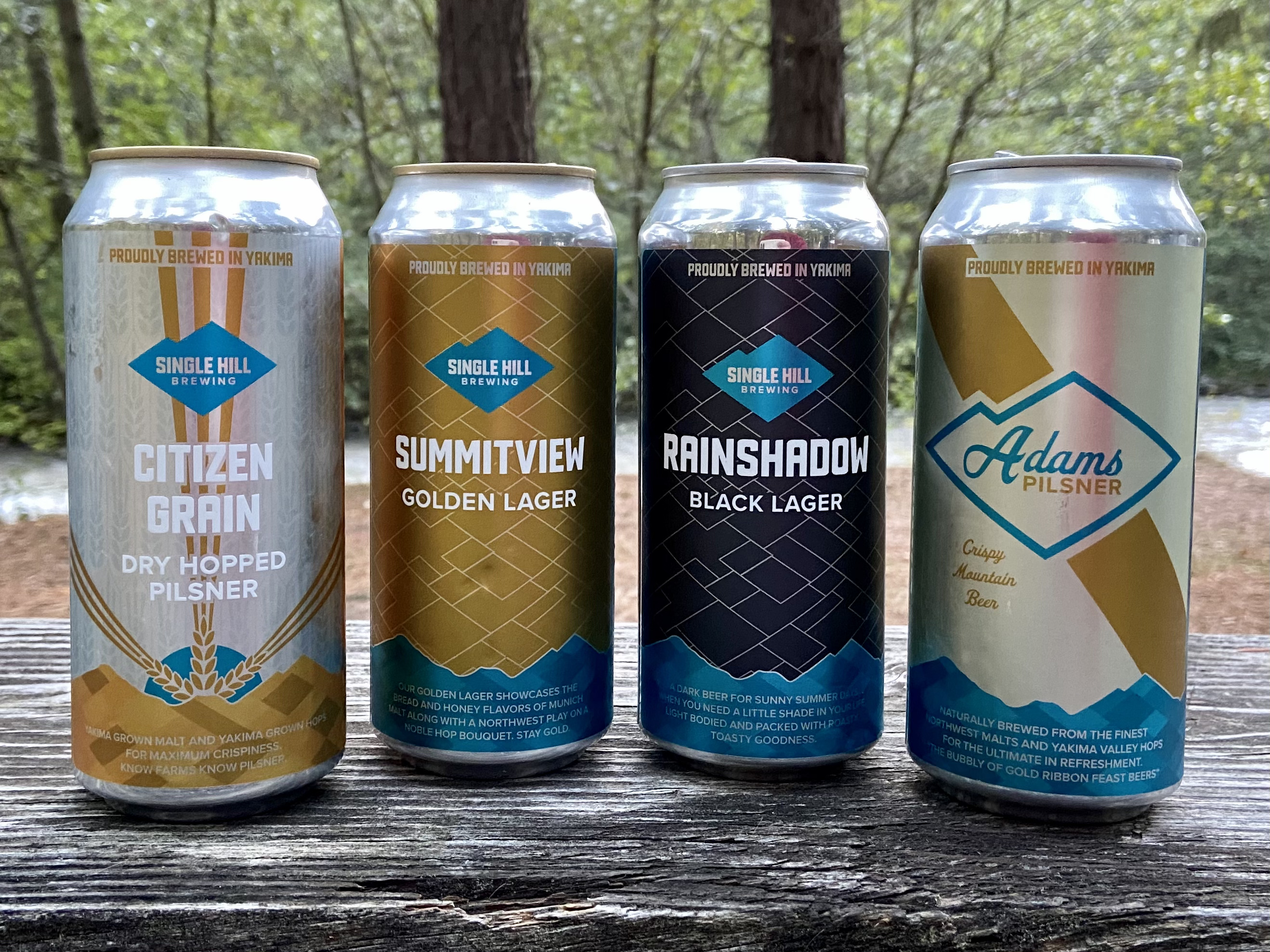 Single Hill Brewing has produced top quality lagers as seen in these three offerings. Adams Pilsner was awarded the Gold Medal at Sip Magazine's 2020 Best of the Northwest.