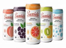Suzie's Organic Hard Seltzer - Peachy, VeryBerry, CitrusFlip, KiwiMango, and Naked.